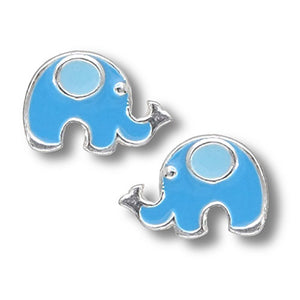Blue Elephant Post Earrings