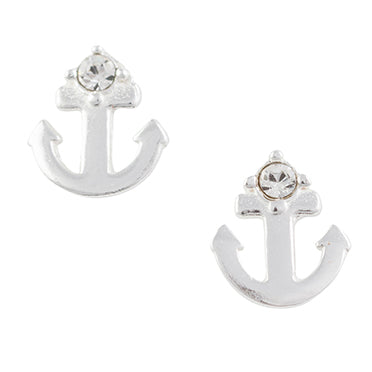 Crystal Anchor Post Earring