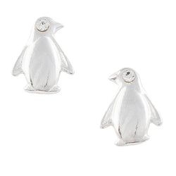 Crystal Penguin Post Earring