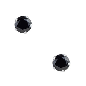 Black CZ Post Earring - 3mm