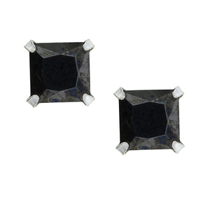 Square Black CZ Post Earring - 5mm