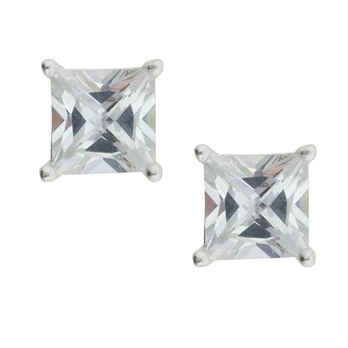 Square CZ Post Earring - 5mm
