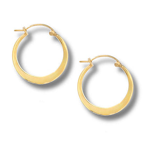 Gold Plated Flat Hoop