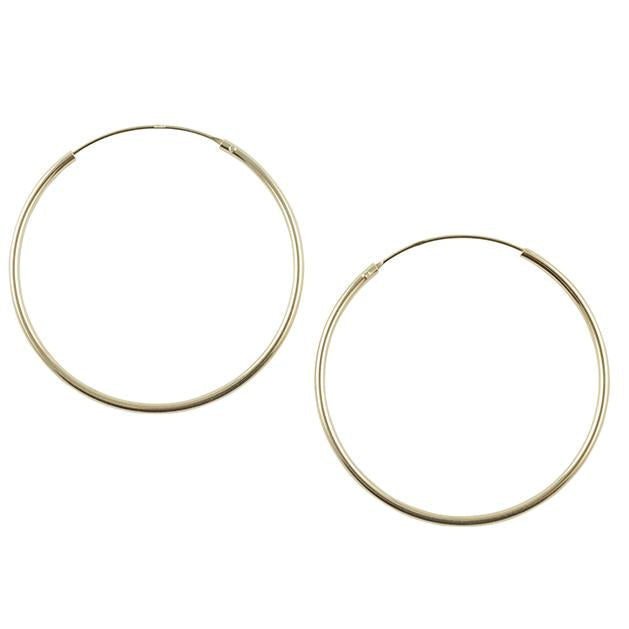 Gold Plated Endless Hoop - 50mm