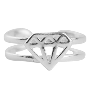 Diamond Toe Ring