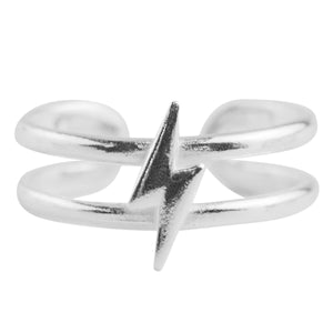 Lightning Bolt Toe Ring