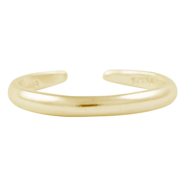 Gold Thin Band Toe Ring