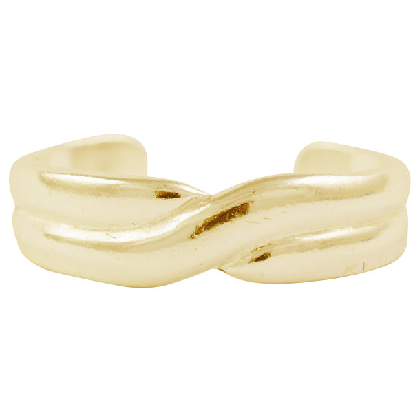 Gold Crossing Band Toe Ring