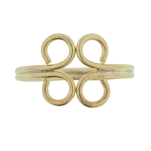 Gold Curlicue Toe Ring