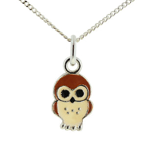 Brown Owl Necklace