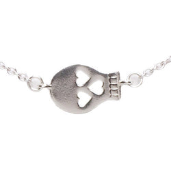 Sideways Skull Necklace