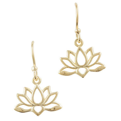 Gold Plated Lotus Earring