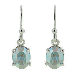 Aurora Oval Crystal Hook Earrings