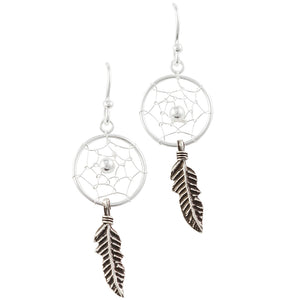 Dreamcatcher & Feather Earring