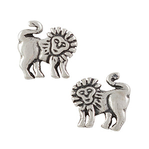 Lion Post Earring