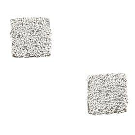 Sandblasted Square Post Earring