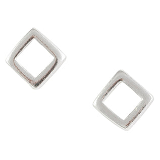 Minimal Square Outline Post Earring