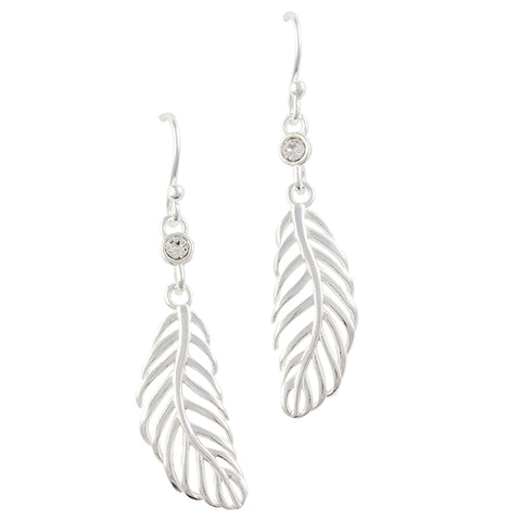 Cutout Feather Earring