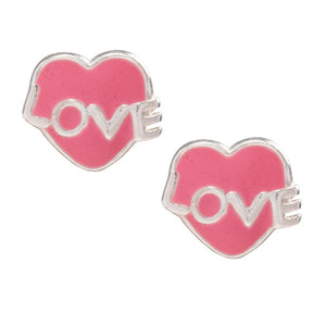 Love Heart Post Earring