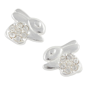 Crystal Pave Bunny Post Earring