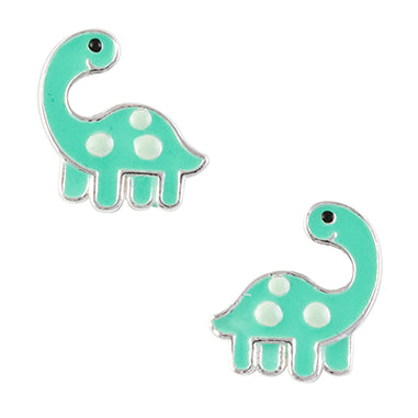 Green Dinosaur Post Earring