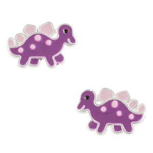 Purple Dinosaur Post Earring