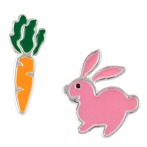 Bunny and Carrot Post Earrings