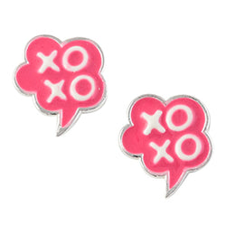 XO Speech Bubble Post Earring