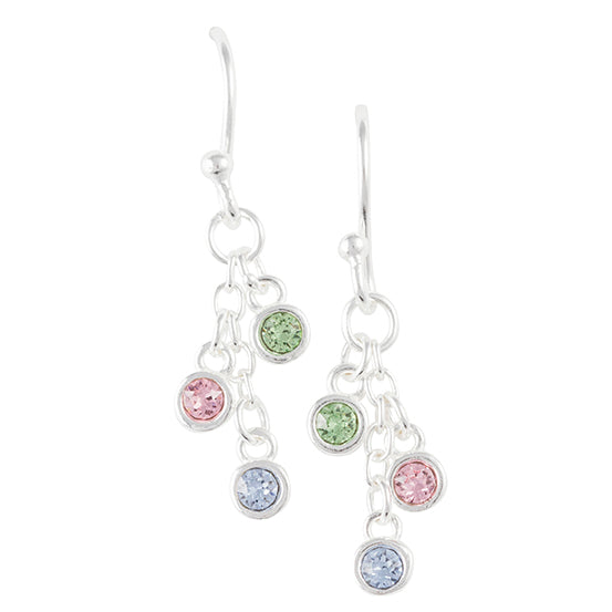 Multicolor Crystal Chain Earring