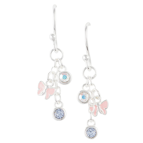 Crystal and Butterfly Earring