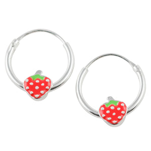 Strawberry Hoop Earring