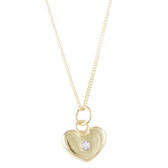 Gold Plated Crystal Heart Necklace