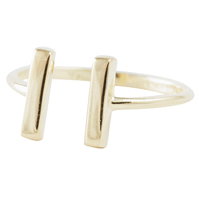 Even-Steven Adjustable Ring in Gold