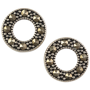 Marcasite Open Circle Post Earring