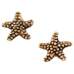 Gold Plated Starfish Post Earring