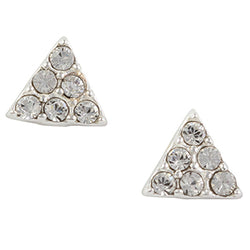 Crystal Triangle Post Earring
