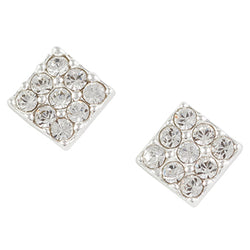 Crystal Square Post Earring
