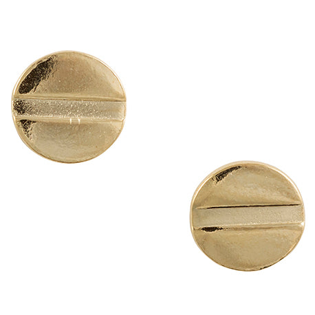 Gold Plated Screw Post Earring