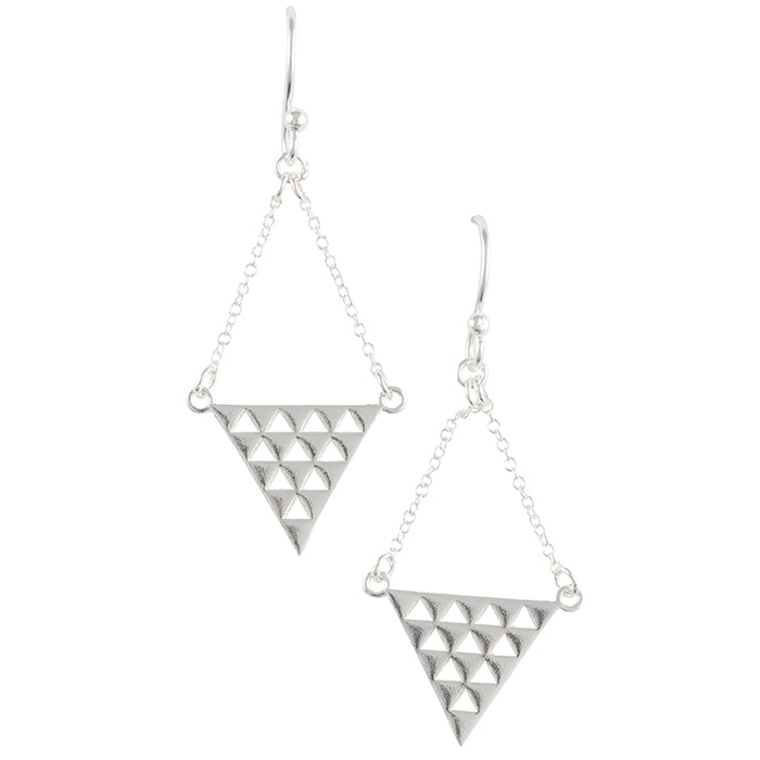 Triangle Chain Earring