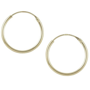 Gold Plated Endless Hoop - 16mm