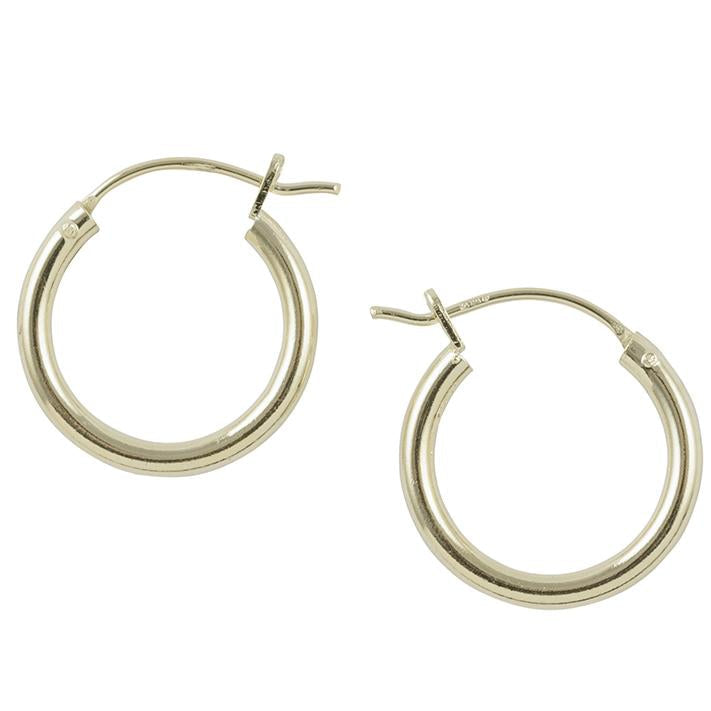Gold Plated Plain Hoop - 16mm