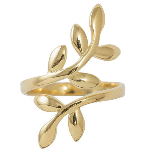 Ascending Vine Ring in Gold - Adjustable