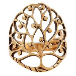 Tree of Life with Fruit Ring in Gold