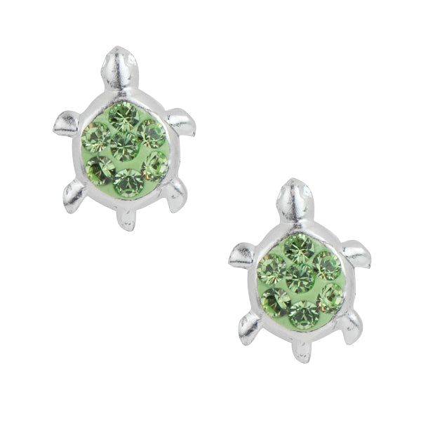 Crystal Pave Turtle Post Earring