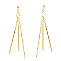 Gold Plated Tripple Earring Post