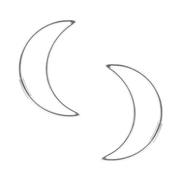 Crescent Moon Hoop