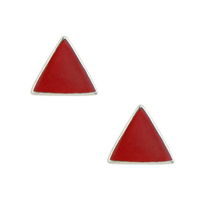 Small Triangle Post In Red