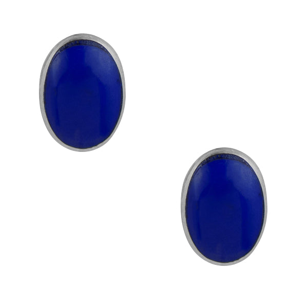 Oval Post In Lapis Blue
