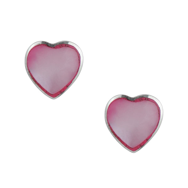 Heart Post In Pink Mother Of Pearl