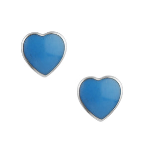 Heart Post In Azure Blue